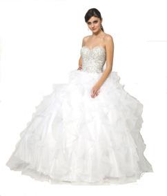 Vestidos De Xv Cortos Blancos Vestidos Largo 32 En Mercado