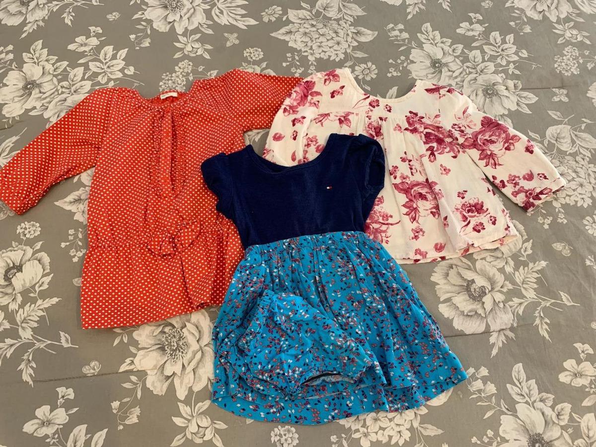 venta online patrones de moda barato mejor valorado Vestidos Y Blusa Tommy Hilfiger, Gap Y Benetton Niña 12/18 M - $ 380.00