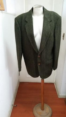 vestón 100% lana, talla 50, color verede