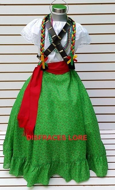 Vestuario disfraz falda adelita blusa adelita rebozo ni as for Alberca 20 de noviembre campeche