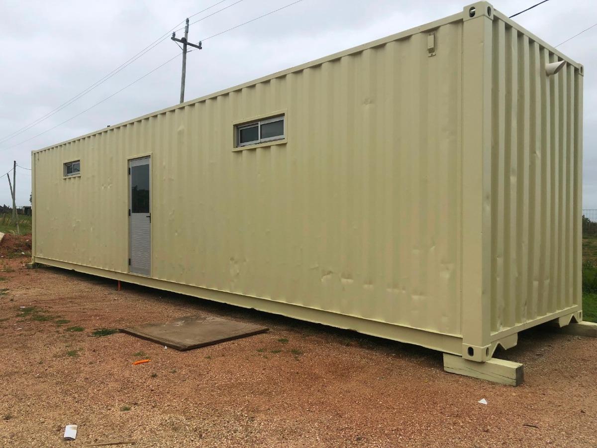 vestuario y baños de 12 metros  depositos y containers