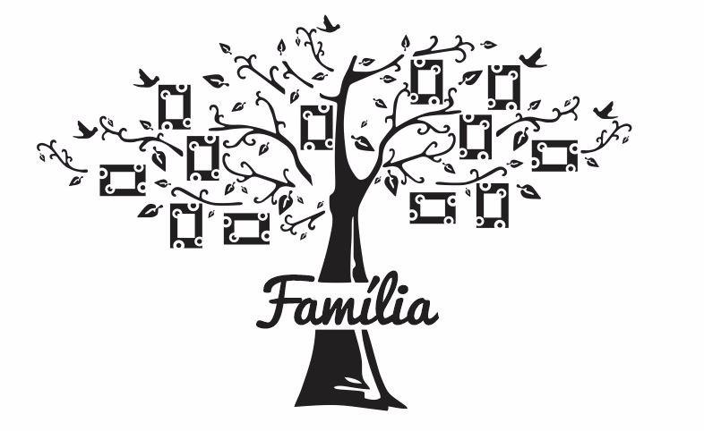 Artesanato Reciclagem Decoração ~ Vetor AdesivoÁrvore Família Para Parede R$ 9,99 em Mercado Livre