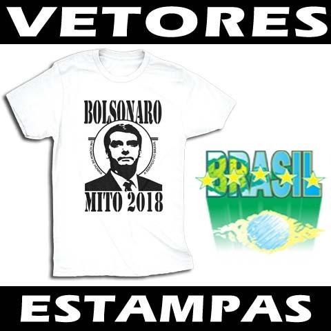 Vetores Bolsonaro Sublimação Serigrafia - R  23 ccf37965270