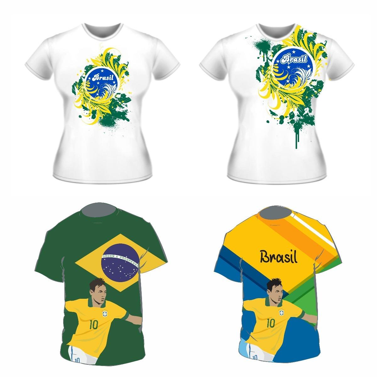 Vetores Copa Estampas Mundo Camisa 2018 Artes Sublimação - R  24 34b6ca97168fd
