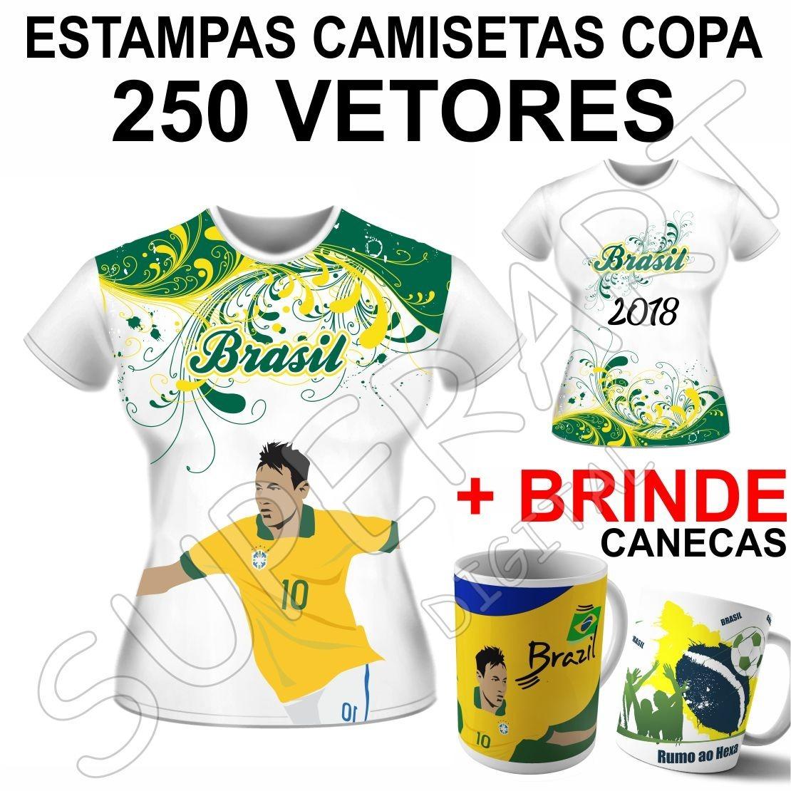 Vetores Copa Estampas Mundo Camisa 2018 Artes Sublimação - R  24 72660883a68