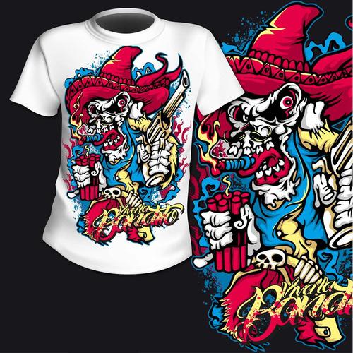 vetores de estampas de camisetas set 1