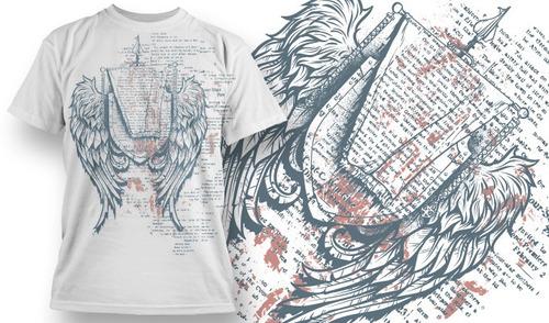 vetores de estampas de camisetas set 6