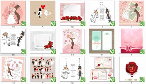 vetores e imagens casamento, templates (novo)