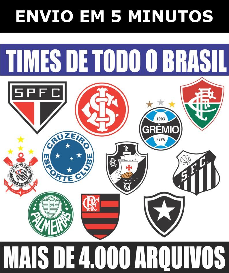 Vetores Escudos (brasões) Times De Futebol Clubes