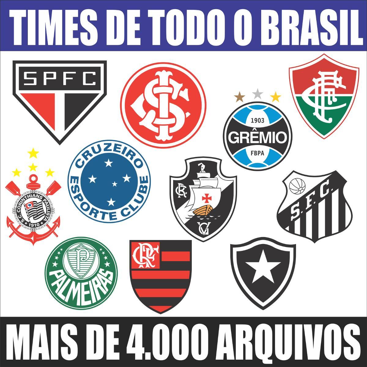 Vetores Escudos (brasões) Times De Futebol Clubes + Esportes - R  10 ... d9742f44e4134