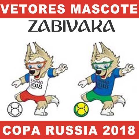 Vetores Mascote Copa 2018 Zabivaka - R  9 faa8d76ab09