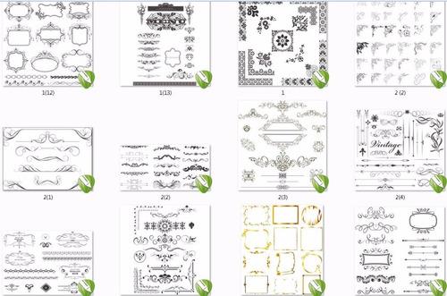 vetores monogramas, vintages, frames