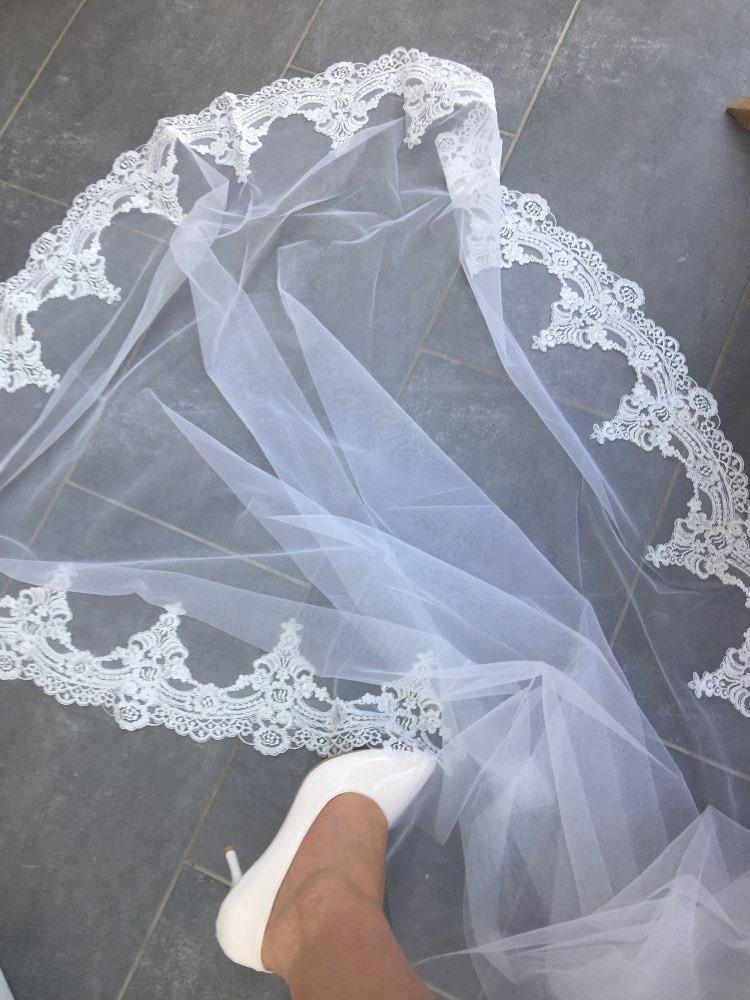aeb9a29ef véu casamento mantilha noivas estilo tule francês bordada 3m. Carregando  zoom.