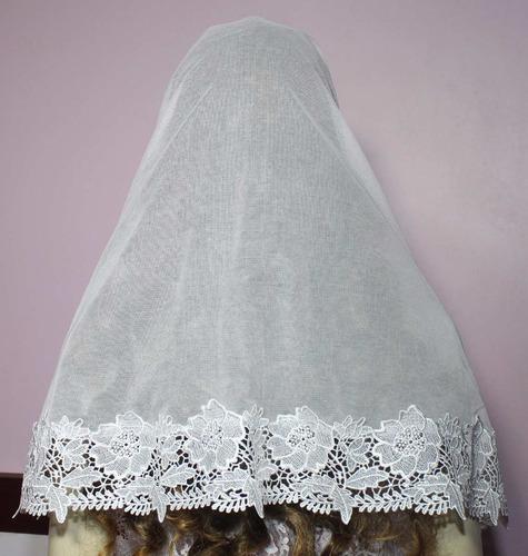 véu ccb redondo com renda guipir