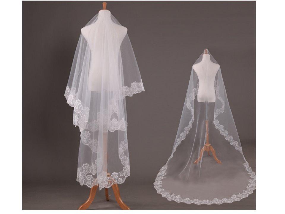 74be470f2 Véu De Noiva Mantilha Casamento Longo Bordado 2