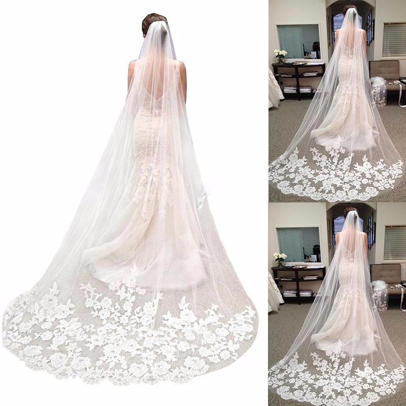 74c7cef3c veu de noiva mantilha longo 2.3metro vestido noiva casamento. Carregando  zoom.