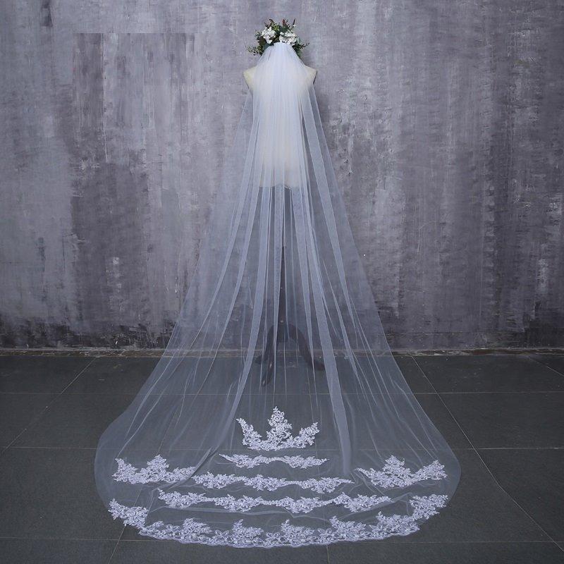 e7e822317 véu noiva casamento longo 3 metros com bordado. Carregando zoom.