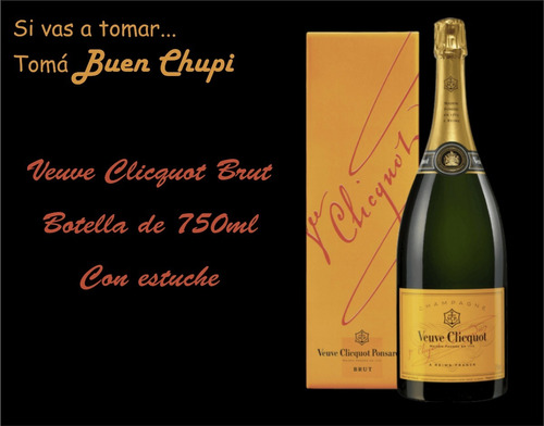 veuve clicquot brut yellow label 750 con estuche buen chupi