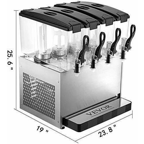 vevor dispensador comercial bebidas frias 12 l x 4