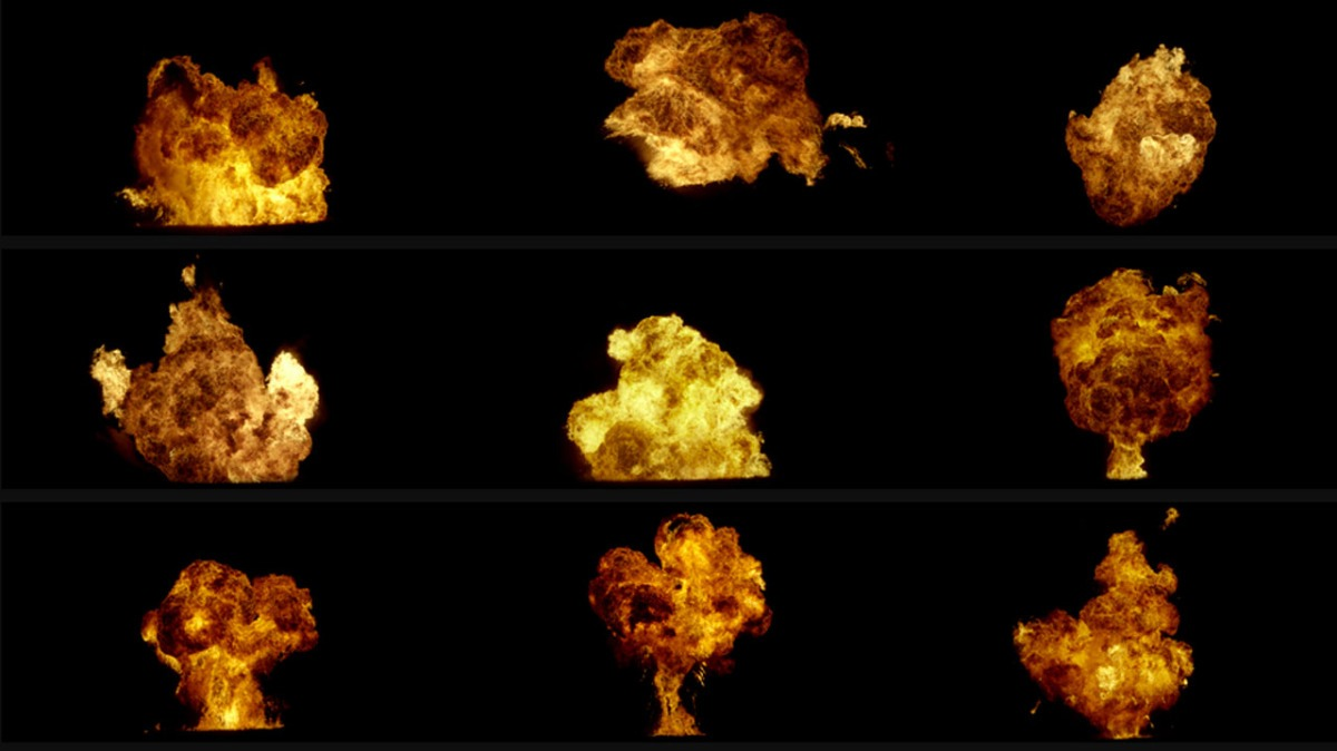 Vfxcentral Combust 4k Fire Explosions Pack