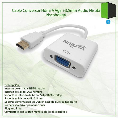 vga audio cable hdmi