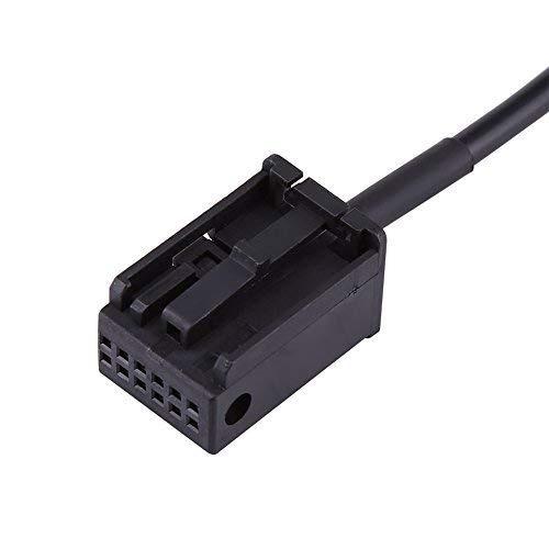VGEBY Cable de entrada auxiliar para coche conector hembra cable auxiliar 12 pines cable adaptador de audio de entrada auxiliar para BMW E85 E86 Z4 CD X3 E83