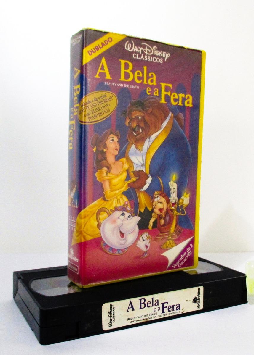 Vhs A Bela E A Fera Desenho Classico Disney 1991 Original R