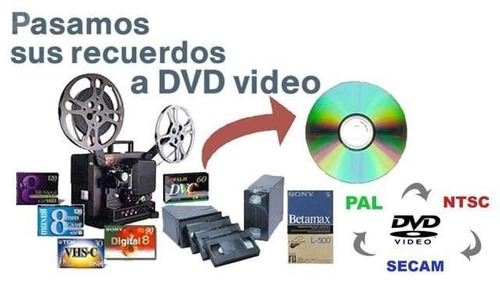 vhs a dvd a tan solo $ 45 la hora imperdble