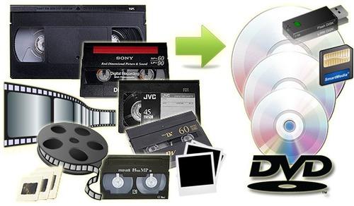 vhs a dvd audio mp4 hi8 minidv vhsc  cine diapositivas foto
