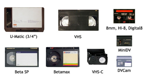 vhs a  dvd  mp4 usb  hi8 minidv vhsc  cine diapos foto