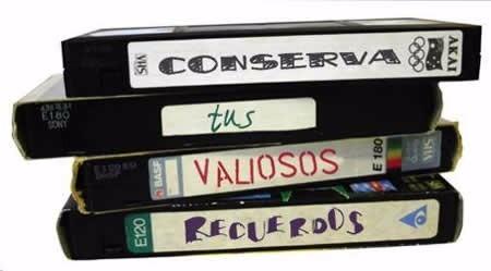 vhs a dvd pasaje digitalizacion 8mm hi8 minidv clips foto