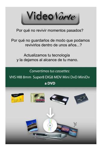 vhs a dvd pendrive digital hi8-mindv mejor precio zona norte