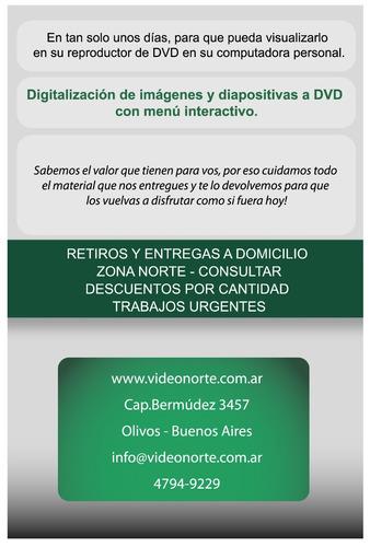 vhs a dvd/conversión/digitalización/pasar/diapos/olivos