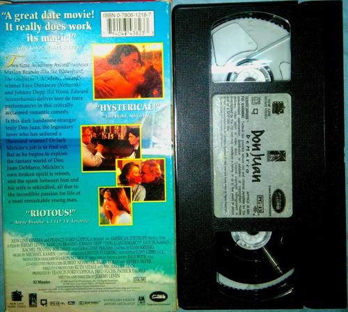 vhs de la película  don juan de marco   1995