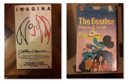 vhs de the beatles de los 90s - 14 videos