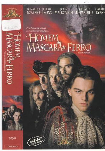 vhs dvd homem da mascara de ferro - dublado so em fita