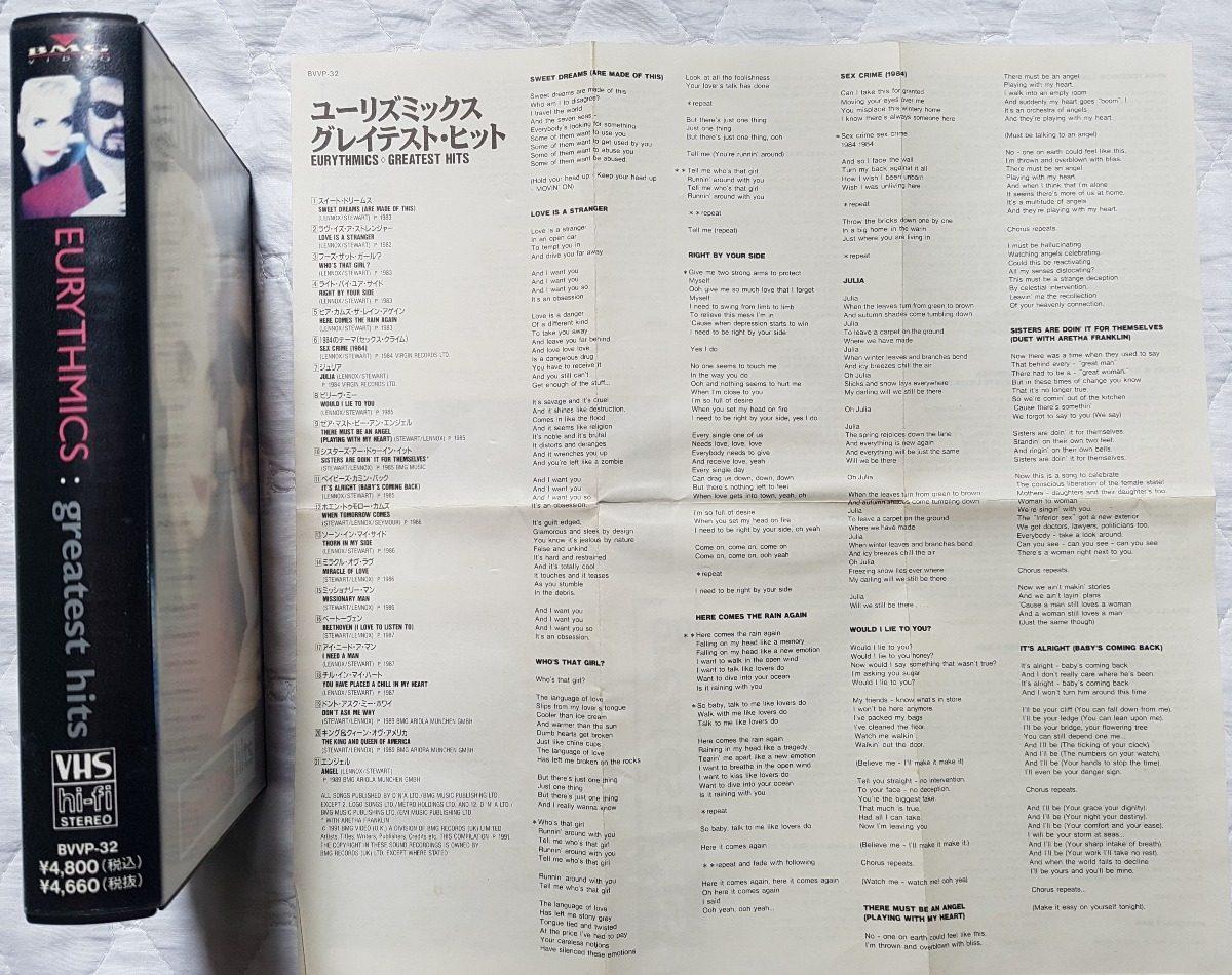 Vhs eurythmics greatest hits r 4500 em mercado livre carregando zoom fandeluxe Image collections