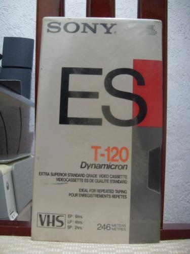 vhs fita sony es t-120 dynamicrom (lacrada)