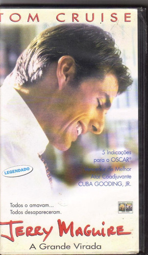 vhs jerry maguire - a grande virada, tom cruise - legendado