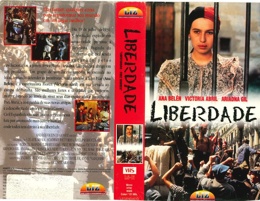 377295fdb4eb9 Vhs Liberdade, Não Saiu Em Dvd, Ariadna Gil, Ana Belén - R  24,00 em ...