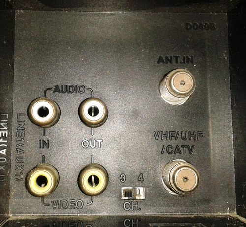 vhs modelo lg-ed49m. operativo/sin control remoto