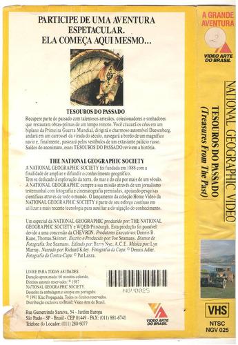 vhs national geografic tesouros do passado