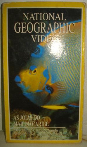 vhs national geographic video as jóias do mar do caribe