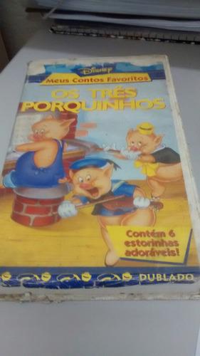 vhs os tres porquinhos meus contos favoritos disney