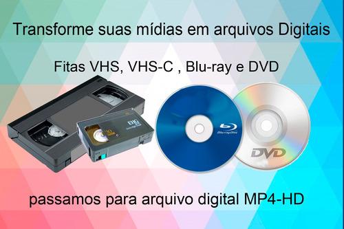 vhs para arquivo digital ou dvd