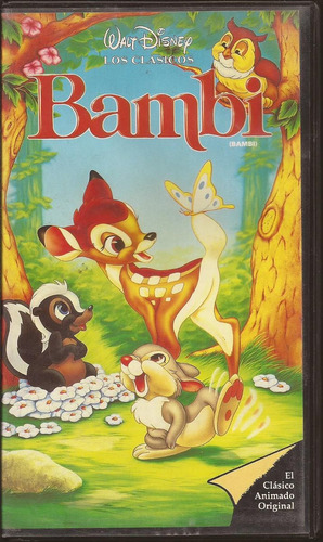 vhs pelicula  bambi (1942) animacion de walt disney