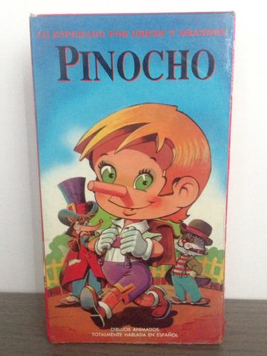 vhs película original. pinocho. hablada en español impe