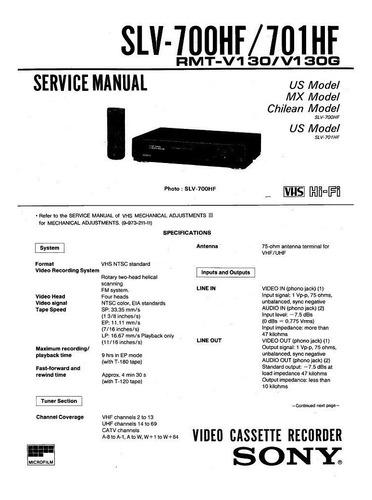 vhs sony slv-700hf hi-fi stereo reparar repuesto sin control