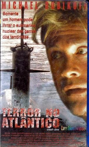 vhs - terror no atlântico - michael dudikoff,