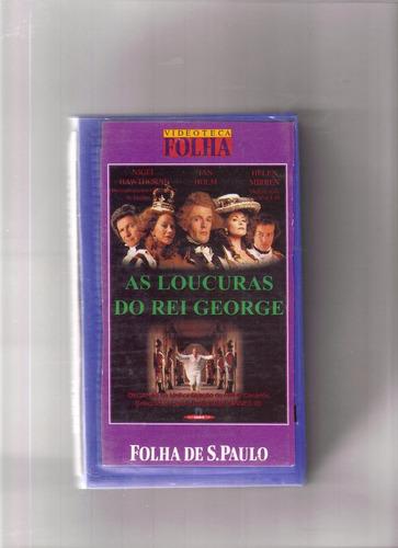 vhs videoteca folha vol 5 - as loucuras do rei george